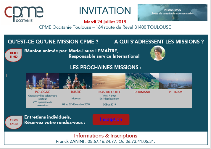LES MISSIONS EXPORT DE LA CPME NATIONALE