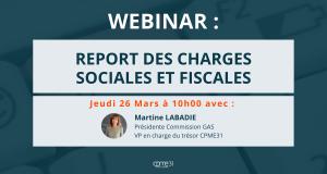 Report des charges sociales et fiscales
